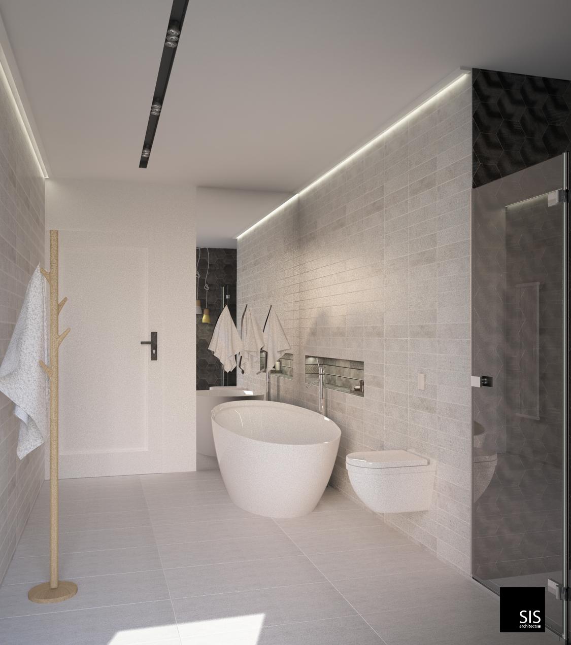 wizualizacja łazienka w domu jednorodzinnym sis archotekci31