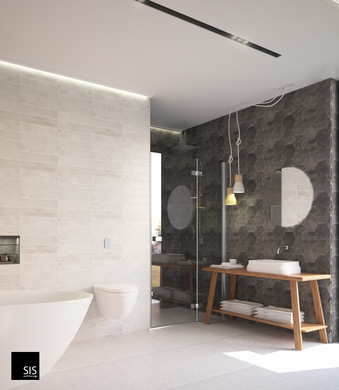 wizualizacja łazienka w domu jednorodzinnym sis archotekci33